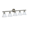 Portfolio 5-Light Aztec Brushed Nickel Bathroom Vanity Light
