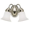 Portfolio 2-Light Aztec Chrome Bathroom Vanity Light
