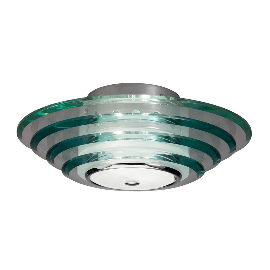 Shop allen + roth 11.81-in W Chrome Ceiling Flush Mount at Lowes.com