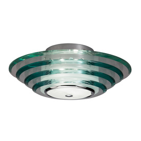 allen + roth 11.81-in W Chrome Ceiling Flush Mount Light