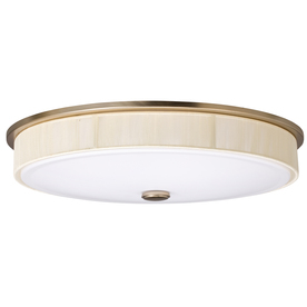 Portfolio 17.3-in W Aztec Painted Champagne Ceiling Flush Mount