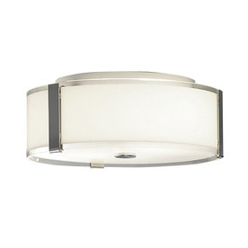 allen + roth 13-7/8-in W Aztec Chrome Ceiling Flush Mount