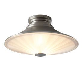 Style Selections 15-in W Brushed Nickel Ceiling Flush Mount