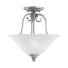 Portfolio 13-in W Northampton Antique Pewter Textured Semi-Flush Mount Light