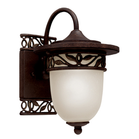 Portfolio 12.25-in H Tannery Bronze Outdoor Wall Light
