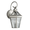 Portfolio Capretti 1-Pack 13.38 Inches-In Antique Pewter Outdoor Wall Light