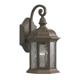 allen + roth Bellwood 12-7/8-in Olde Brick Outdoor Wall Light