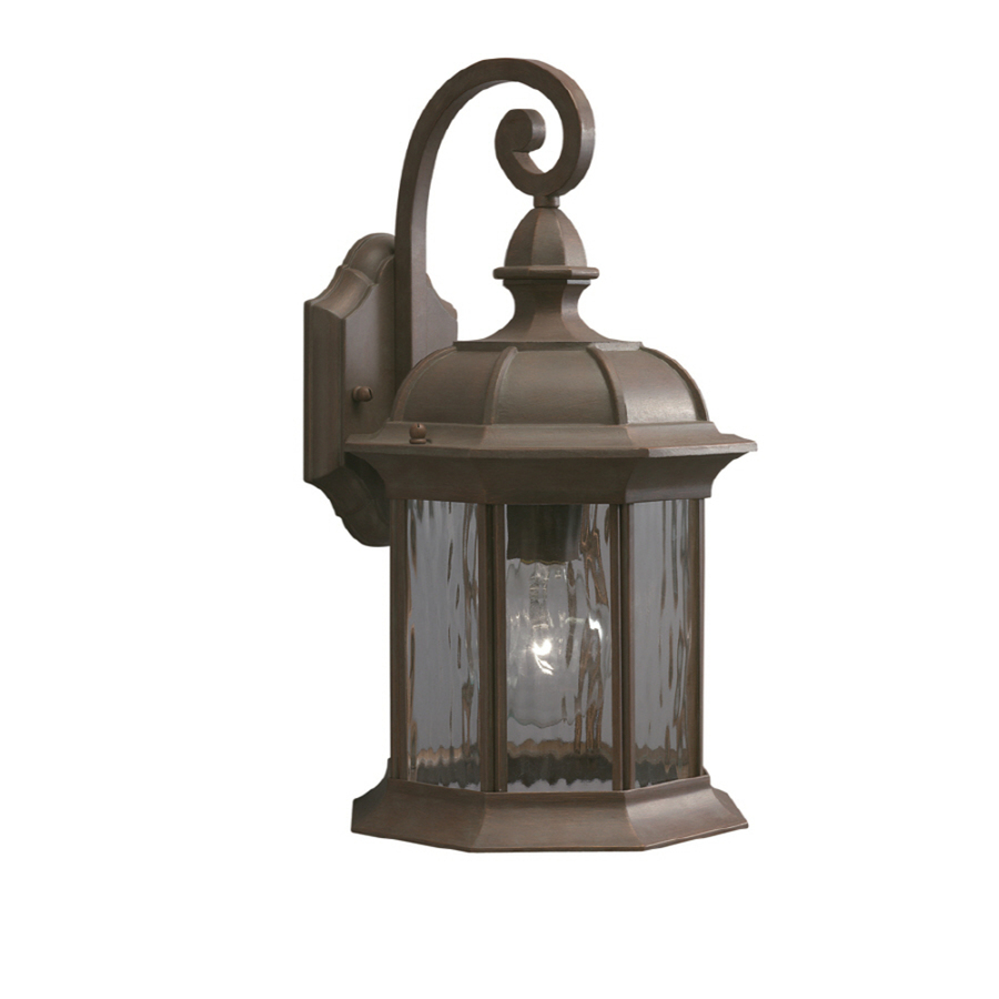 shop allen roth bellwood h olde brick outdoor wall light at. Black Bedroom Furniture Sets. Home Design Ideas