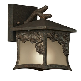 Portfolio Pemberhold 10-3/4-in Tannery Bronze Outdoor Wall Light