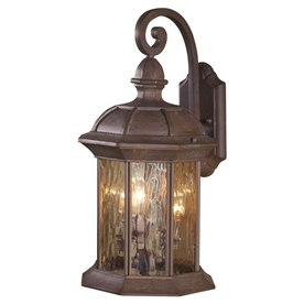 allen + roth Bellwood 19-in H Olde Brick Outdoor Wall Light