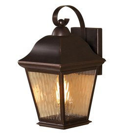 shop allen roth 14 in h olde auburn outdoor wall light at. Black Bedroom Furniture Sets. Home Design Ideas