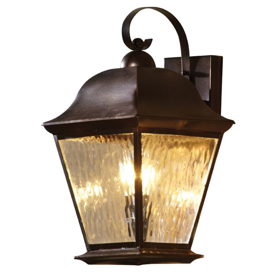 shop allen roth 18 5 in h olde auburn outdoor wall light at lowes. Black Bedroom Furniture Sets. Home Design Ideas