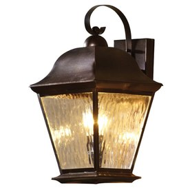 allen + roth 18.5-in H Olde Auburn Outdoor Wall Light