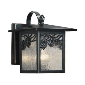 shop portfolio ortman 12 in h dark oil rubbed bronze outdoor wall light at. Black Bedroom Furniture Sets. Home Design Ideas