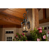 allen + roth Castine 20.38-in H Rubbed Bronze Outdoor Wall Light