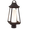 Kichler Lighting Hartford 17.8-in H Rubbed Bronze LED Post Light