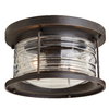 allen + roth Stonecroft 12-in W Rust Outdoor Flush-Mount Light
