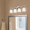 Portfolio 4-Light Paces Brushed Nickel Bathroom Vanity Light