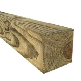 Pressure Treated Southern Yellow Pine Lumber (Common: 4-in x 4-in x 8-ft; Actual: 3.5-in x 3.5-in x 8-ft)