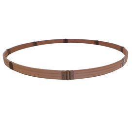 Frame It All 120-in x 120-in Brown Round Composite Sandbox
