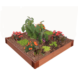 Frame It All 48-in L x 48-in W x 6-in H Resin Raised Garden Bed