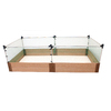 Frame It All 48-in W x L x 24-in H Stainless Steel Plastic Raised Garden Bed