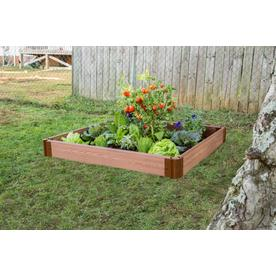 48-in L x 48-in W x 6-in H Plastic Raised Garden Bed
