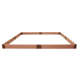 Frame It All 96-in L x 96-in W x 6-in H Plastic Raised Garden Bed
