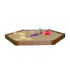 Frame It All 7-ft x 8-ft Brown Hexagon Composite Sandbox