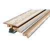 SimpleSolutions 2.37-in x 78.7-in Off White Pine 4-N-1 Floor Moulding