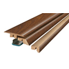 SimpleSolutions 2.37-in x 78.74-in Burnished Fruitwood 4-N-1 Floor Moulding