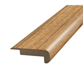 SimpleSolutions 2.37-in x 78.74-in Tigerwood Stair Nose Floor Moulding