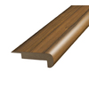 SimpleSolutions 2-3/8-in x 6-ft 6-11/16-in Pecan Stair Nose Moulding