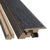 SimpleSolutions 2.37-in x 78.74-in Ebonized Oak 4-n-1 Floor Moulding