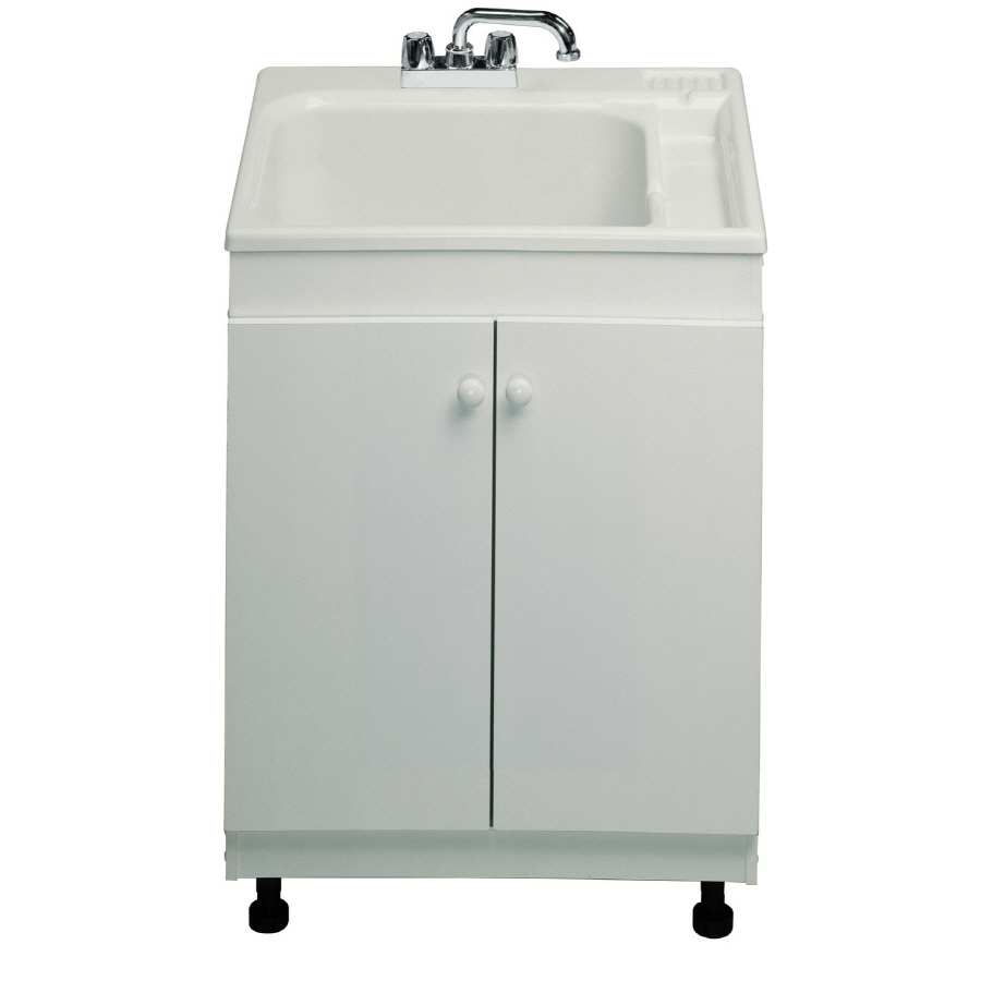 Freestanding Laundry Tub : Shop ASB White Freestanding Utility Tub at Lowes.com