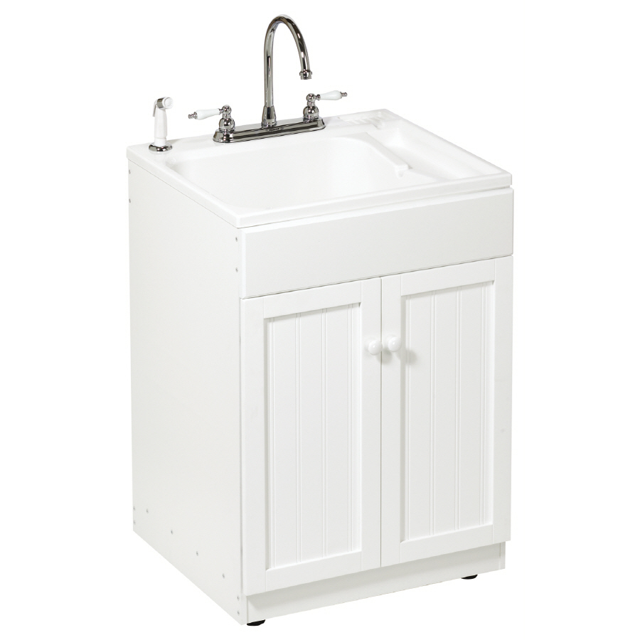 Laundry Tub Lowes : Plastic+Laundry+Sink+with+Cabinet ... Laundry Sink with Cabinet http ...