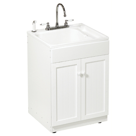 All In One Laundry Sink Cabinet : Shop ASB All-in-One Utility Sink/Cabinet Kit at Lowes.com