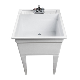 ASB White Granite Freestanding Composite Utility Tub