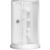 Peerless High Gloss White Styrene Round 5-Piece Corner Shower Kit (Actual: 78-in x 37.75-in x 37.75-in)