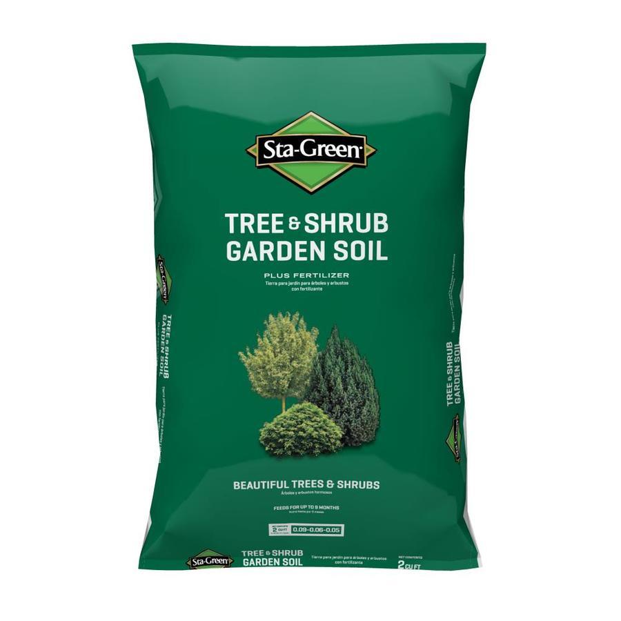 Shop sta green 2 cu ft tree and shrub garden soil at for Potting soil versus garden soil