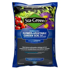 Shop sta green 1 5 cu ft flower and vegetable garden soil at for Sta green garden soil