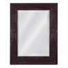 Style Selections 30-in x 42-in Teak Rectangular Framed Mirror