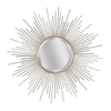allen + roth 34-in x 34-in Champagne Round Framed Wall Mirror