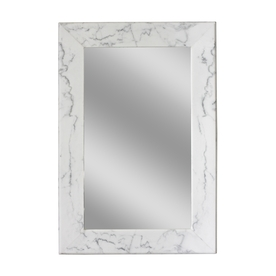 allen + roth White Rectangle Framed Wall Mirror