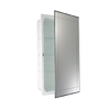 allen + roth 16-in x 26-in Rectangle Recessed Aluminum Medicine Cabinet