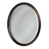 allen + roth 23-in W x 29-in H Oil-Rubbed Bronze Oval Bathroom Mirror