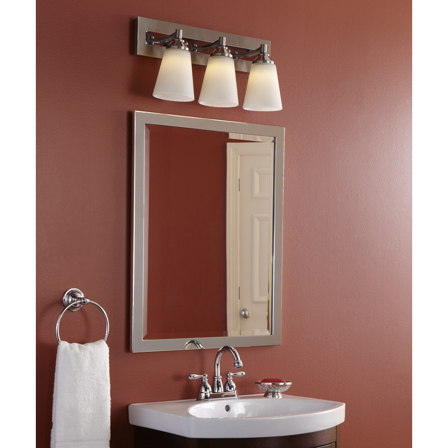 Allen Roth 24 In Chrome Rectangular Bathroom Mirror In The Bathroom Mirrors Department At Lowes Com