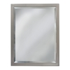 allen + roth 24-in W x 30-in H Brush Nickel Rectangular Bathroom Mirror