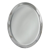 allen + roth 23-in W x 29-in H Chrome Oval Bathroom Mirror