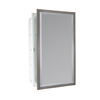allen + roth 16-in x 26-in Rectangle Recessed Mirrored Aluminum Medicine Cabinet